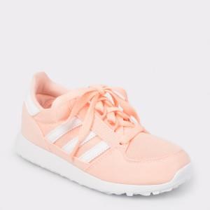 Pantofi sport pentru copii ADIDAS portocalii, F34329, din material textil