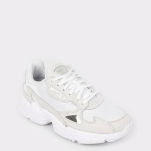 Pantofi sport ADIDAS albi, B28128, din material textil