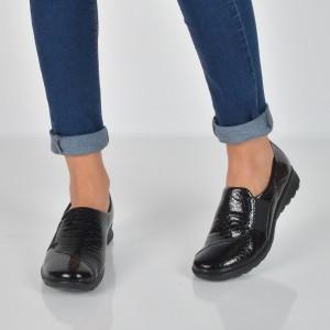 Pantofi Imac Negri, 207860, Din Piele Naturala