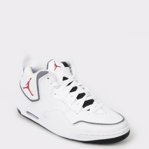 Pantofi sport NIKE albe, Cd1522, din piele ecologica