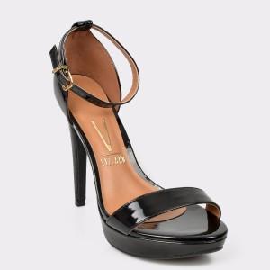 Sandale VIZZANO negre, 6278104, din piele ecologica