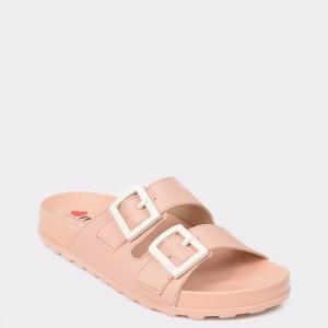 Papuci roz, 5436101, din piele ecologica
