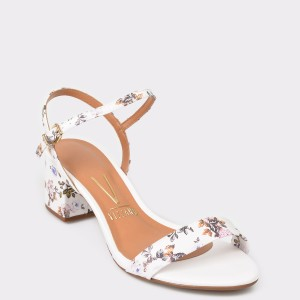 Sandale VIZZANO albe, 6291100, din piele ecologica