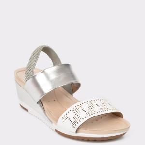 Sandale argintii, 7123111, din piele ecologica