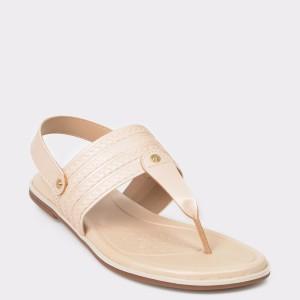 Sandale crem, 7131104, din piele ecologica