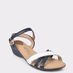 Sandale bleumarin, 7017435, din piele ecologica