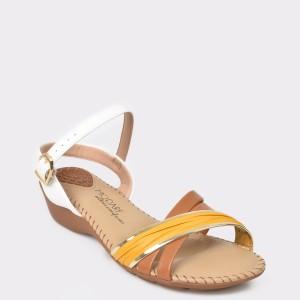 Sandale albe, 7017435, din piele ecologica