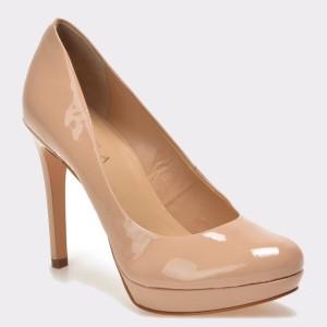 Pantofi Epica Nude, Ex02a, Din Piele Naturala