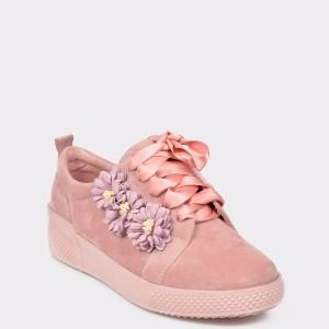 Pantofi sport FLAVIA PASSINI roz, Fh1934, din piele intoarsa