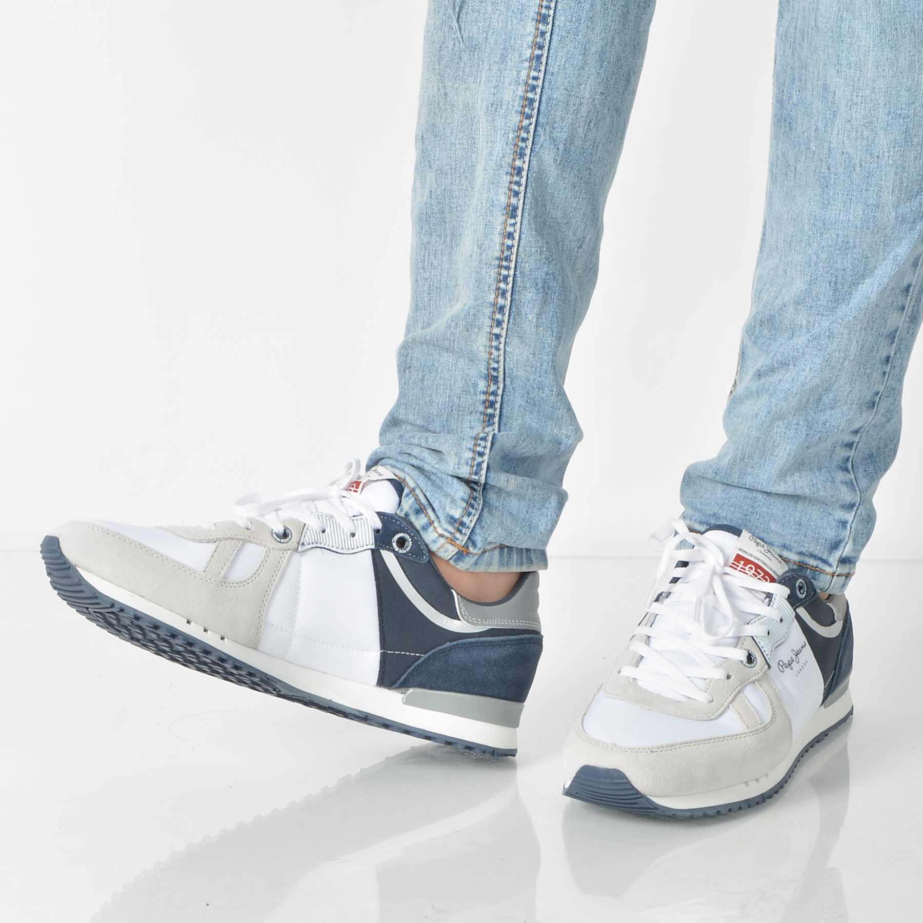 Pantofi Sport Pepe Jeans Albi, Ms30415, Din Material Textil