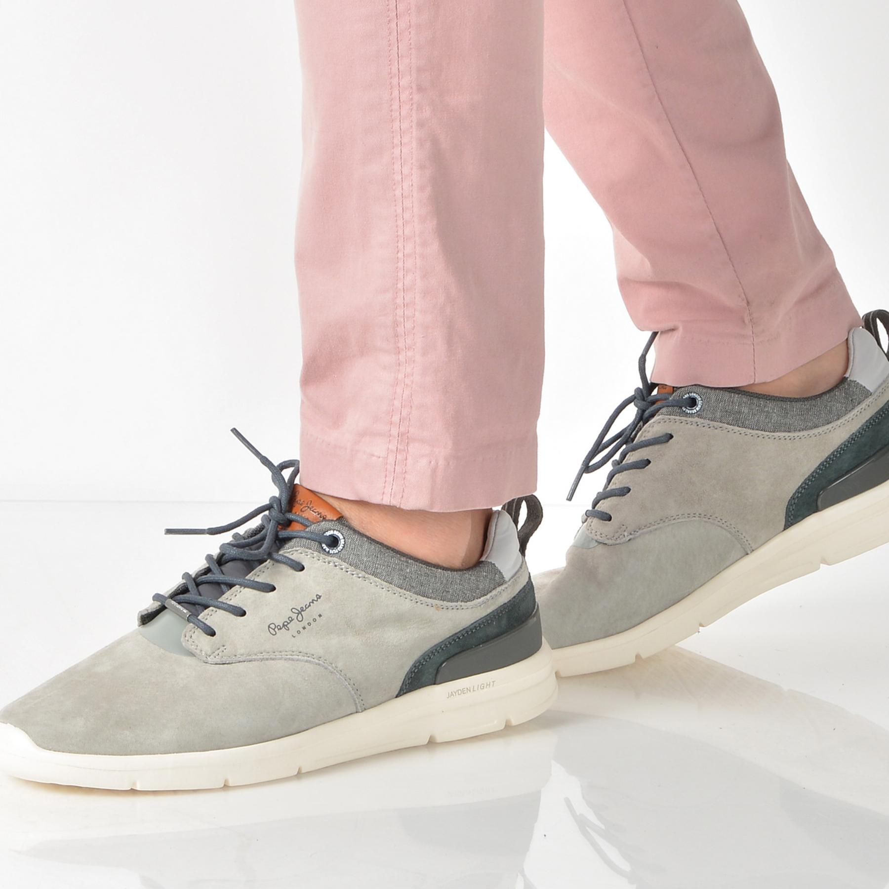 Pantofi Sport Pepe Jeans Gri, Ms30409, Din Piele Naturala