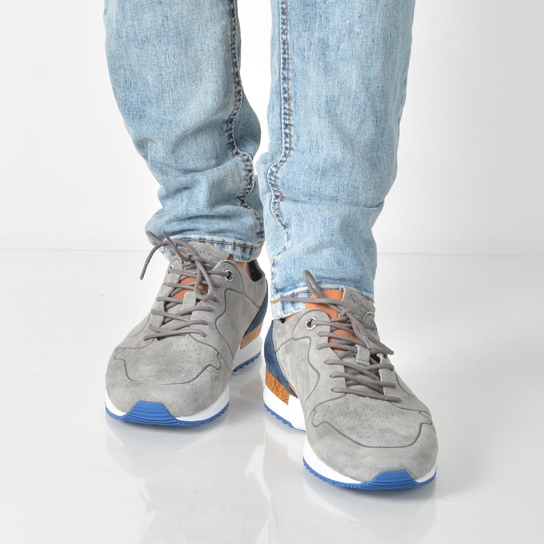 Pantofi Sport Pepe Jeans Gri, Ms30411, Din Piele Naturala