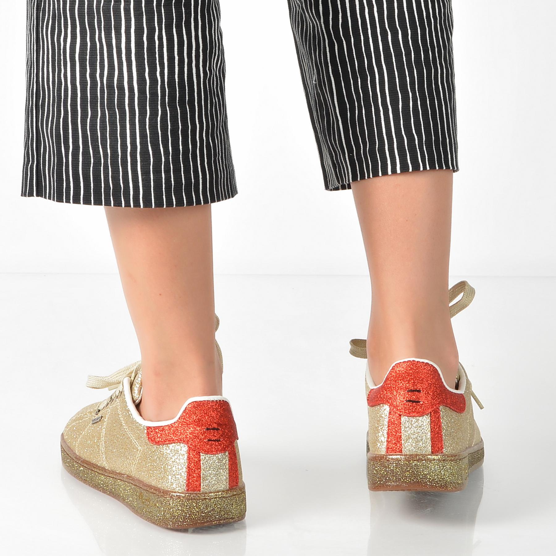 Pantofi Pepe Jeans Aurii, Ls30666, Din Piele Ecologica