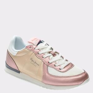 Pantofi Sport Pentru Copii Pepe Jeans Mov, Gs30341, Din Piele Ecologica