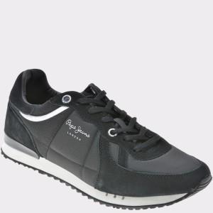 Pantofi sport PEPE JEANS negri, Ms30484, din piele intoarsa