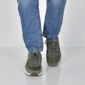 Pantofi sport PEPE JEANS kaki, Ms30484, din piele intoarsa
