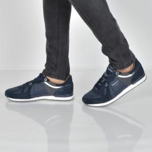 Pantofi sport PEPE JEANS bleumarin, Ms30484, din piele intoarsa