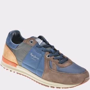 Pantofi sport PEPE JEANS multicolori, Ms30485, din piele intoarsa