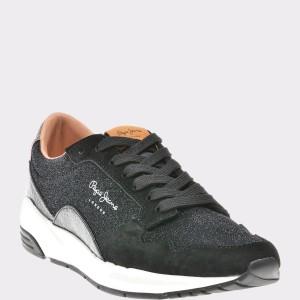 Pantofi Sport Pepe Jeans Negri, Ls30730, Din Piele Ecologica