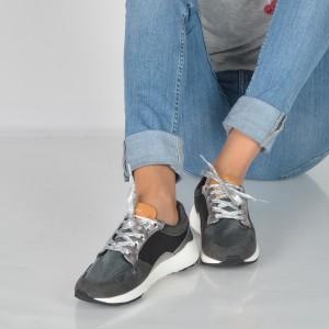 Pantofi Sport Pepe Jeans Gri, Ls30680, Din Piele Ecologica
