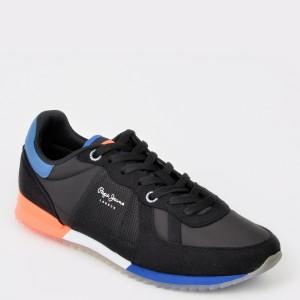 Pantofi sport PEPE JEANS negri, Ms30507, din material textil