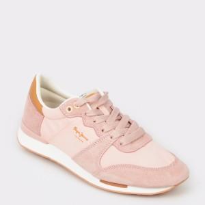 Pantofi sport PEPE JEANS roz, Ls30861, din material textil