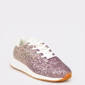 Pantofi sport PEPE JEANS roz, Ls30839, din material textil