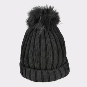 Caciula KLOP neagra, C02, din material textil