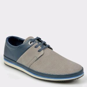 Pantofi OTTER gri, M5119, din nabuc