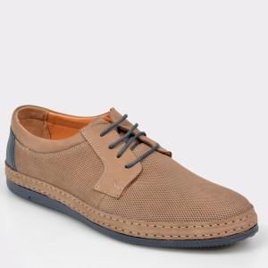 Pantofi OTTER maro, M5007, din nabuc