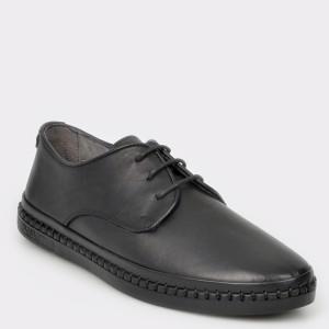 Pantofi OTTER negri, M5123, din piele naturala