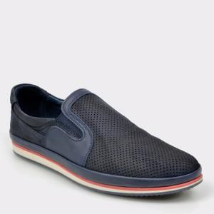 Pantofi OTTER bleumarin, M5024, din piele naturala