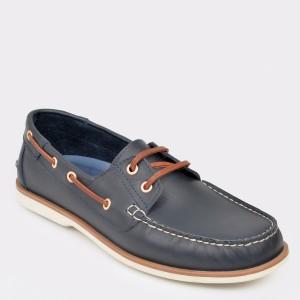 Pantofi OTTER bleumarin, Rb01, din piele naturala