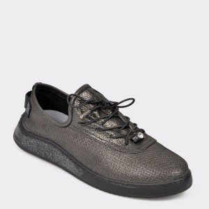 Pantofi IMAGE negri, 19Y0908, din piele naturala