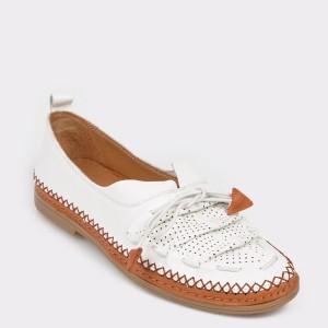 Pantofi FLAVIA PASSINI albi, 155704, din piele naturala