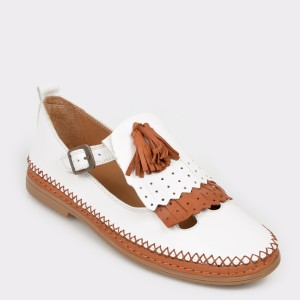 Pantofi FLAVIA PASSINI albi, N02, din piele naturala