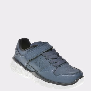 Pantofi Sport Pentru Copii Skechers Bleumarin, 998127l, Din Piele Ecologica