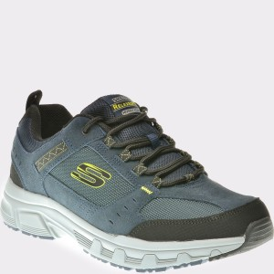 Pantofi Sport Skechers Bleumarin, 51893, Din Piele Naturala Si Material Textil