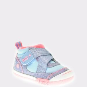 Pantofi Sport Pentru Copii Skechers, Mov, 82161n, Din Piele Naturala