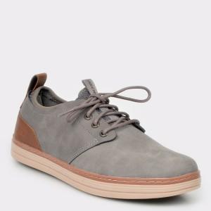 Pantofi sport SKECHERS gri, 65877, din piele naturala
