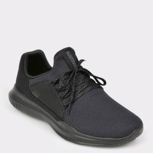 Pantofi sport SKECHERS negri, 54360, din material textil