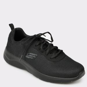 Pantofi sport SKECHERS negri, 58362, din material textil