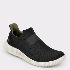 Pantofi sport SKECHERS negri, 65892, din piele ecologica