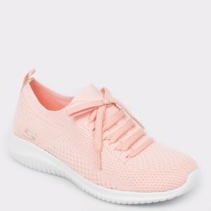 Pantofi sport SKECHERS roz, 12841, din material textil