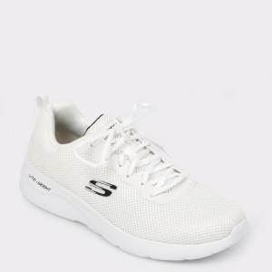 Pantofi sport SKECHERS albi, 58362, din material textil