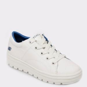 Pantofi SKECHERS albi, 74100, din material textil