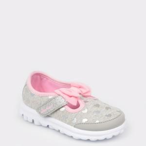 Pantofi pentru copii SKECHERS gri, 81162N, din material textil