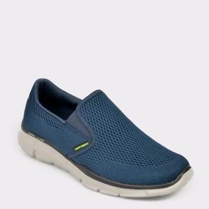 Pantofi SKECHERS bleumarin, 51509, din piele ecologica