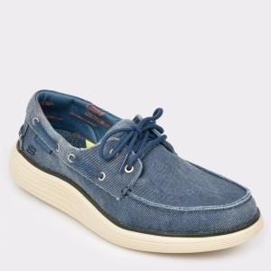 Pantofi SKECHERS bleumarin, 65908, din canvas