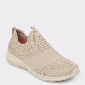 Pantofi sport SKECHERS bej, 12837, din material textil